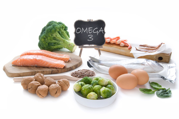 Various foods containing omega-3 fatty acids